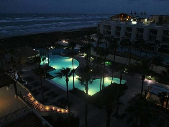 Pearl South Padre: View from the room at night