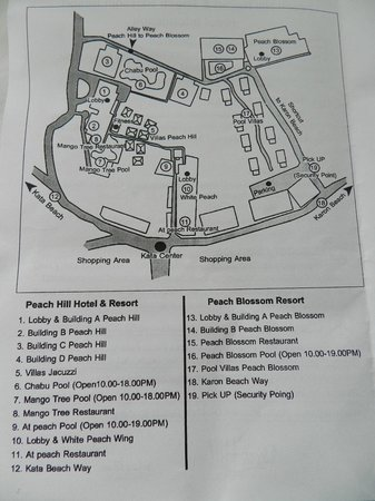 Peach Hill Hotel & Resort: pamphlett showing hotel grounds