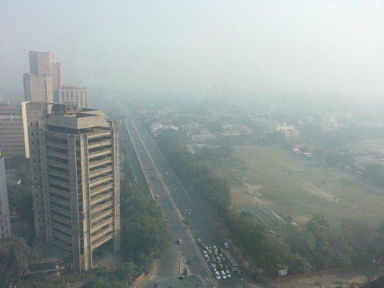 The Hans New Delhi: view from the room on a sunny day in New Delhi!