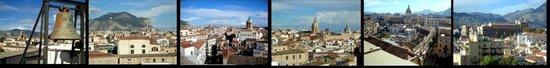 Torre di San Nicolo all'Albergheria: Panorama a tutto tondo dalla torre