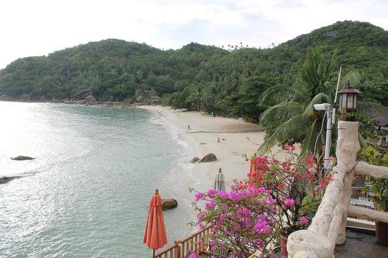Crystal Bay Beach Resort: Вид на бухту с терассы отеля