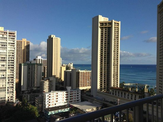 OHANA Waikiki East Hotel: View out the window, Jun 13
