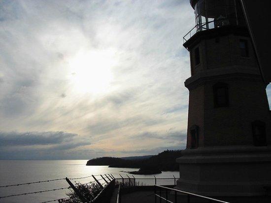 Split Rock Lighthouse State Park : Split Rock Lighthouse and Lake Superior sunset