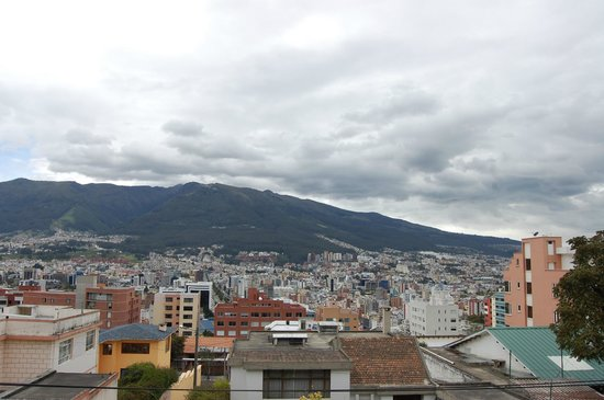 St. Gallen Haus : Quito from the roof of St. galen haus