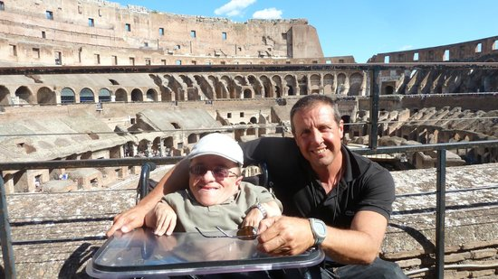 Rome Connection Private Tours: Our Tour Guide Marco Tavola & I at the Colosseum in Rome, Italy