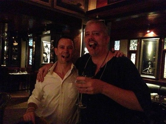 Siam Supper Club : The Maitre d Ben (left) with my husband enjoying a wonderful Martini (the cigar isn't lit)