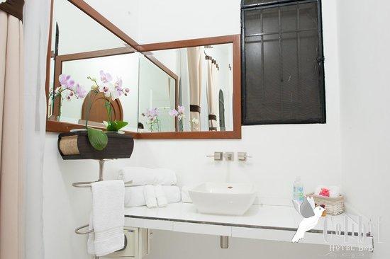 Colibri Hotel B&B: Nuestros sanitarios son completamente blancos para que usted note nuestro nivel de limpieza