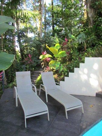 Prana Rainforest Retreat : Chairs for sun bathing.