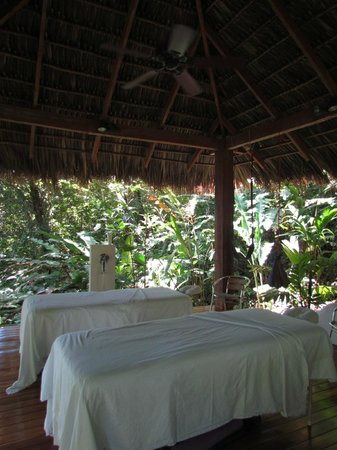 Prana Rainforest Retreat: Ready for our massages.