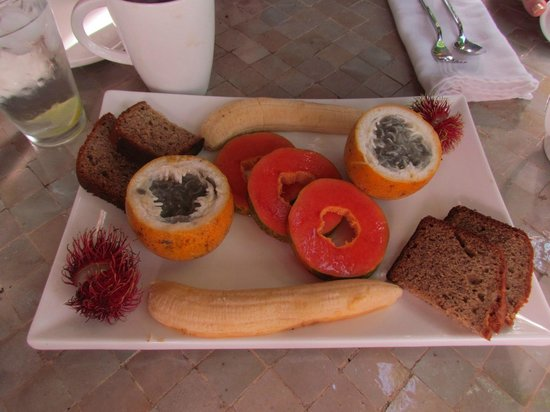 Prana Rainforest Retreat: Another great appetizer before our breakfast.
