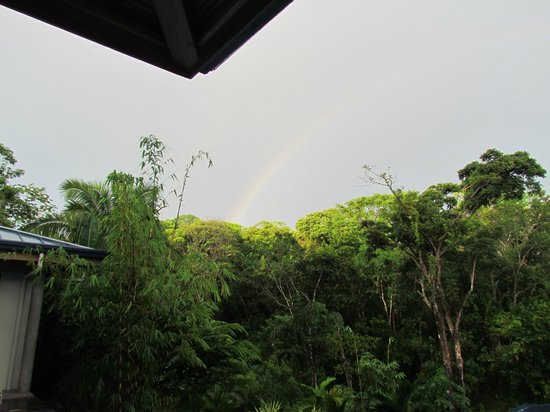 Prana Rainforest Retreat: We were fortunate to see a complete rainbow while visiting.
