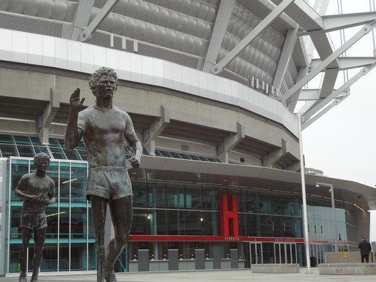 B.C. Place Stadium : View of Section H entrance and Terry Fox statue