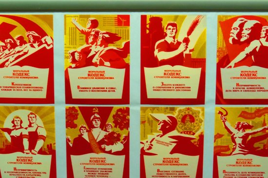 Communism and Nuclear Bunker Tour : Communism posters and propaganda