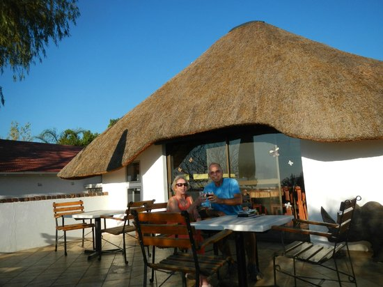 Tamboti Guest House: Tamboti even has South African wine cheap!