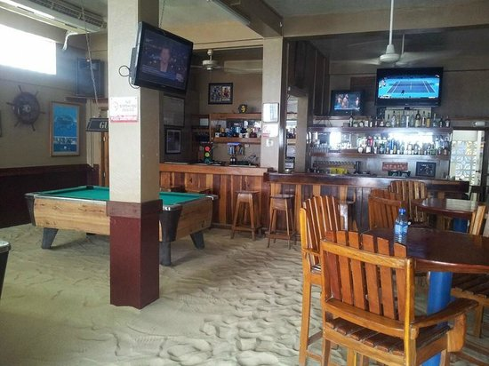 This is our indoor Tipsy Tuna Sports Bar!