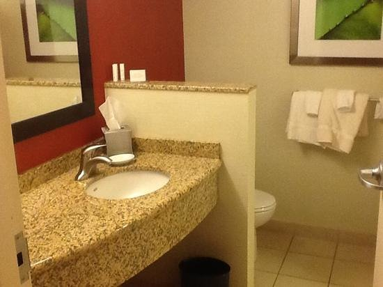 Courtyard by Marriott Dallas Allen at the John Q. Hammons Center: liked the bathroom arrangement especially the separation between the toilet and sink