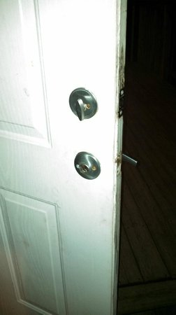 Cape May KOA: For some reason a number of doorknobs were missing