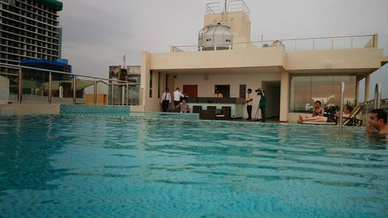 Renuka City Hotel : view from pool to hotel