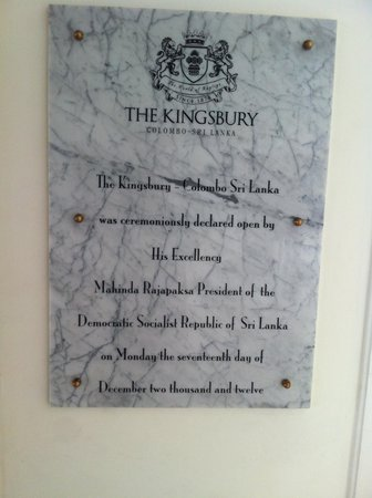 The Kingsbury: @ the entrance