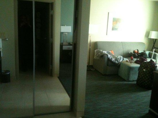 Hampton Inn & Suites Schererville: Closet looking into the seating area