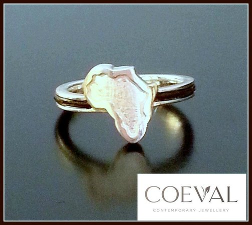 Coeval: Sterling Silver Africa Ring with Elephant Hair