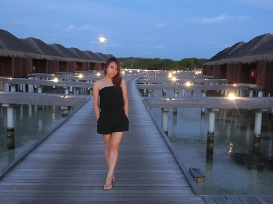 LUX* South Ari Atoll : under moon light