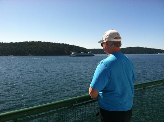 Washington State Ferries: My hubs, communing with nature:)