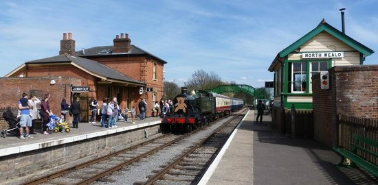 Epping Ongar Railway : Go back in time,travel behind a steam engine between period stations through picturesque country