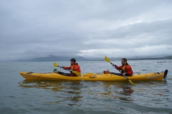 Kaikoura Kayaks: Beautiful scenery, even on a cloudy day