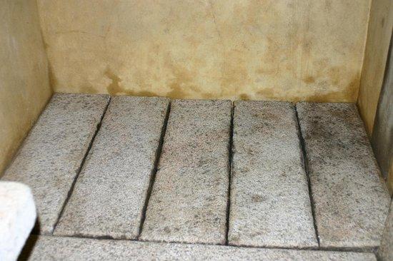 Hotel Au bois vert : sol douche  en granit