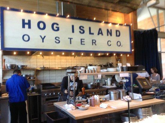 Hog Island Oyster Company: Il bancone dell'ostrica