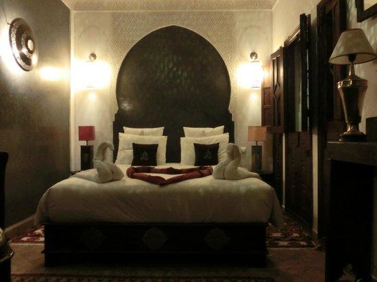Riad Charme d'Orient: So wurden wir täglich in unserem Zimmer begrüsst