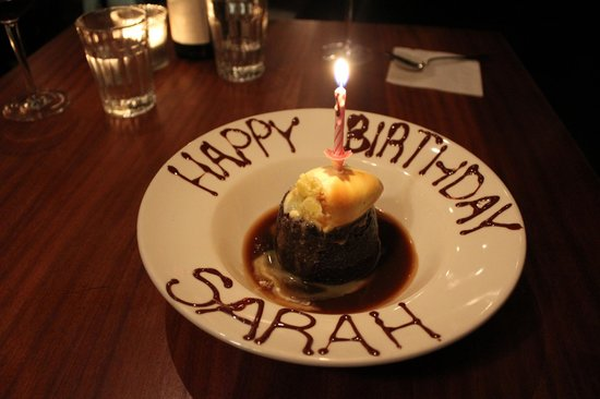 Hawksmoor Spitalfields: birthday sticky toffee pudding and clotted cream :)