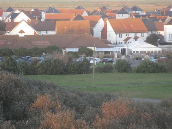 View of the Gallivant from the top of the Dunes