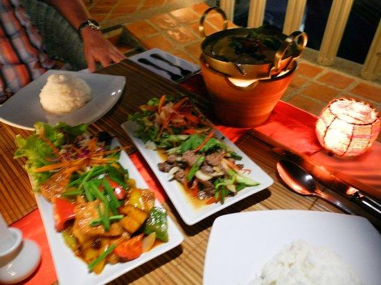 Mangosteen Ayurveda & Wellness Resort: Dinner @ Mangosteen - yum!