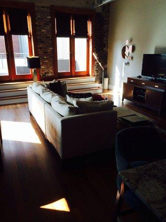 The Restoration: Living room.