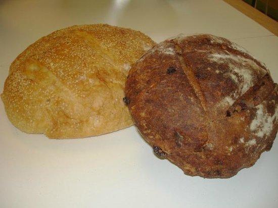 Beta Bread Bakery and Deli: Sesame Italian, Orange-cranberry-walnut bread