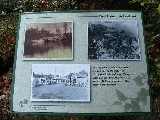 Butchart Gardens: Informaçoes sobre a fabrica de cimento