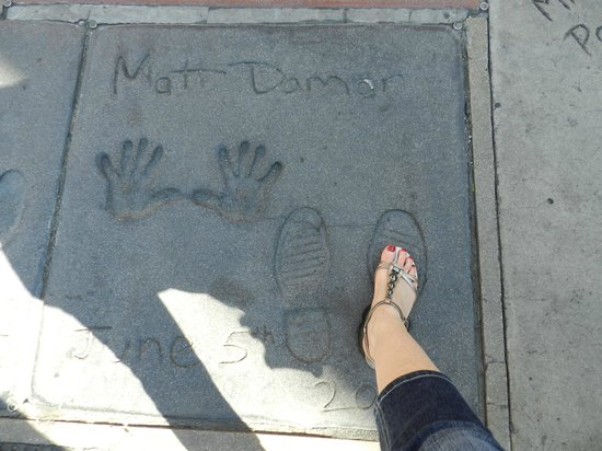 Holiday Inn Express Hotel & Suites Hollywood Hotel Walk of Fame : My, what big feet you have!