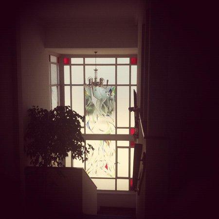 Hotel Casa Thomas Somerscales: Vitreaux de la escalera