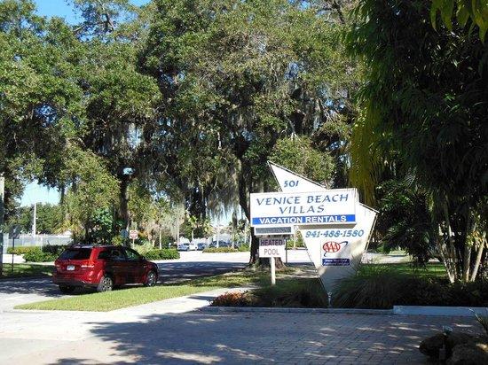 Entry of Venice Beach Villas, at the Venice Ave.