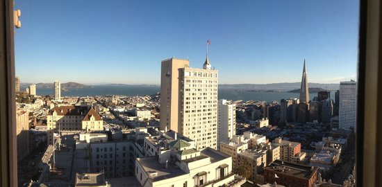 InterContinental Mark Hopkins San Francisco: View from the Top of the Mark facing the bay