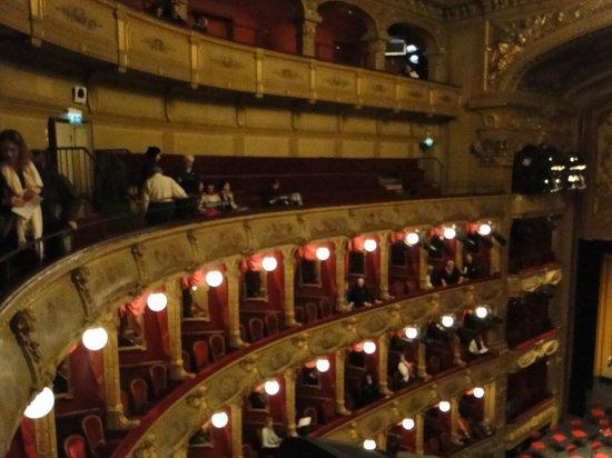 Opéra de Nice : les loges et l'amphithéâtre