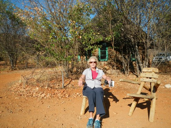 Lodge at Otjitotongwe Cheetah Park: In front of a typical hut.
