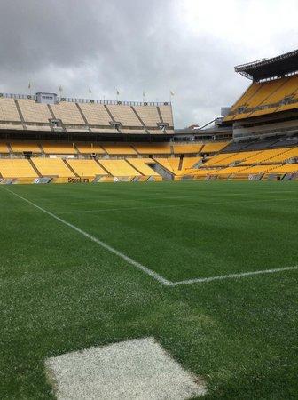 Heinz Field: on the field