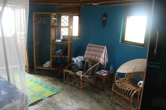 Stumble Inn: Inside our beach hut