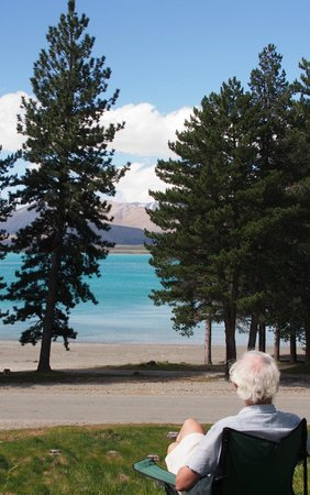 Lake Tekapo Motels & Holiday Park: view from our van's site