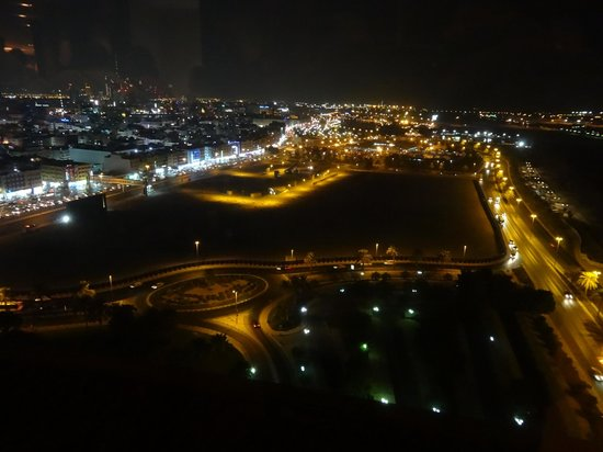 view from the Al Dawaar revolving restaurant Dubai
