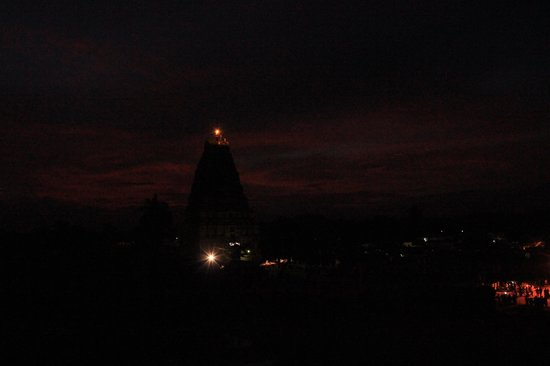 View of Virupaksha temple from Padma Guest House