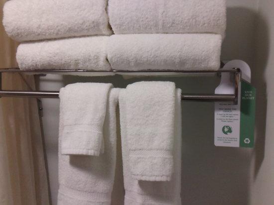 BEST WESTERN Webster Hotel, NASA : Towel reuse signage/ Green effort